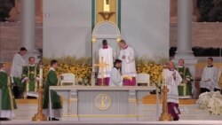 Pope Celebrates Open-Air Mass After Addressing Priest Sexual Abuse