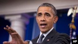 Predsednik Barak Obama govori o novim pravilima u cilju sprečavanja poreske inverzije, 5. aprila 2016.