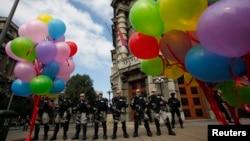 Detalj sa Prajda u Beogradu, 28. septembar 2014. (REUTERS/Djordje Kojadinovic)