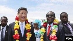 Umongameli Robert Mugabe elomongameli Xi Jinping wele China