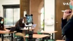 Pandemiya dövründə virtual dərslərə yardım edən robot