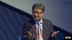 조셉 윤 전 미국 국무부 대북정책특별대표가 26일 서울에서 열린 안보 포럼에 참석했다.