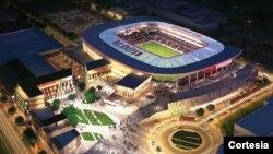 Ilustración de cómo se verá el nuevo estadio del DC United.