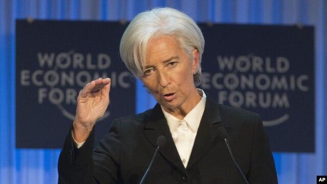 IMF Managing Director Christine Lagarde in Davos, Switzerland, Jan. 23, 2013.