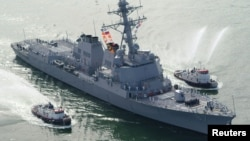Американский эсминец USS Mason (архивное фото)