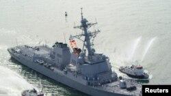 Kapal induk milik militer Amerika, USS Mason di Port Canaveral, Florida (Foto: dok).