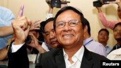 柬埔寨反对党领袖根索卡。(资料照片)