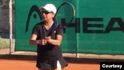 Rizwana Kabir Soulliard on Court In Spain