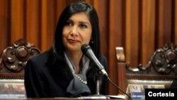 La presidenta del Tribunal Supremo de Justicia de Venezuela, Gladys María Gutiérrez Alvarado.