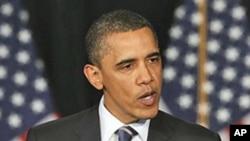 奧巴馬表示要致力減少赤字。