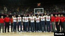 Fransa maçı öncesi Amerikan milli basketbol takımı