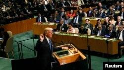 美國總統川普9月19日在紐約聯合國總部72屆聯大發表講話