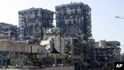 View of the Vasilikos power station, destroyed on July 11 2011 in a blast of confiscated Iranian munitions stored at a nearby military base, July 21 2011