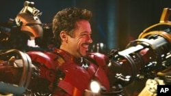 "Robert Downey, Jr. is back as billionaire industrialist Tony Stark, aka Iron Man, in ""Iron Man 2."" © 2010 MVLFFLLC. TM & © 2010 Marvel. All Rights Reserved."
