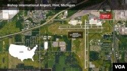 """Un guardia de seguridad fue atacado con cuchillo en el aeropuerto internacional Bishop, en Flint, Michigan, por un hombre que gritó en árabe """"Dios es grande""""."""