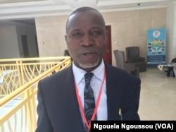 Alexis De Larivière, expert congolais en hydrographie, à Brazzaville. (VOA/Ngouela Ngoussou)