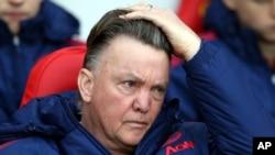 Louis van Gaal, l'entraîneur de Manchester United, 13 février 2016.