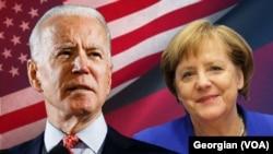 美國總統拜登和德國總理默克爾。