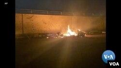 Удар американского беспилотника в международном аэропорту Багдада, в результате чего был убит иранский генерал Касем Сулеймани.