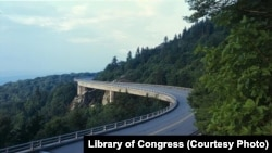 The Linn Cove Viaduct, one of many popular stops along the Blue Ridge Parkway
