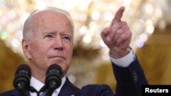 جوبایدن، رییس جمهور امریکا حین کنفرانس خبری در قصر سفید تعهد کرد که به حمایت خود از قوای افغانستان ادامه می دهد