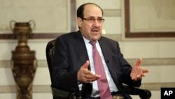 FILE - Iraq's Vice President and former Prime Minister Nouri al-Maliki, Feb. 2, 2015.