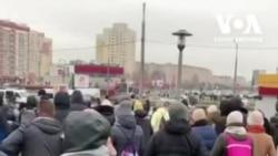 Тисячі людей вийшли на акції протесту у столиці Білорусі 22 листопада. Відео