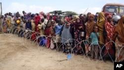 Un camp de réfugiés à Mogadiscio