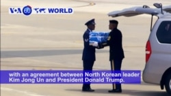 VOA60 World PM - US Plane Lands in South Korea With War Remains