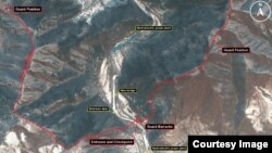 미국의 대북 인권단체인 북한인권위원회가 고해상도 위성사진 제공업체인 '올소스 어낼러시스'와 공개한 북한 16호 관리소 위성사진. 북한 최대의 정치범수용소다.