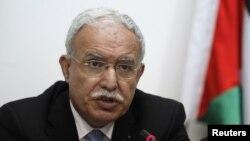 리야드 알말리키 팔레스타인 외무장관.