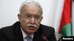 Menlu Palestina Riad al-Malki mengadukan Israel ke Mahkamah Kejahatan Internasional (ICC) di Den Haag (foto: dok).