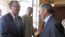 رهبر موقت لیبی با دیپلمات ارشد آمریکا ملاقات می کند