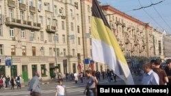 5月6日莫斯科反普京示威中的民族主义势力支持者