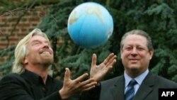 Ричард Брэнсон и Ал Гор