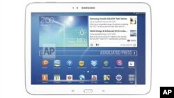 The 10-inch model of Samsung Electronics Company's new Galaxy Tab 3 series tablet computer. Such devices are growing in popularity in Africa.