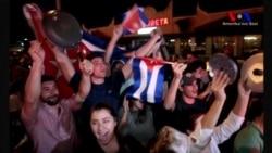 Castro'nun Ardından Miami'de Kutlama Yapıldı