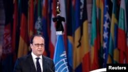 Francuski predsednik Oland govori u UNESCO-u