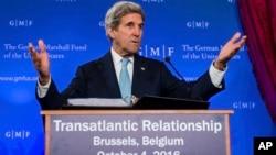 El secretario Kerry prometió que EE.UU. no abandonará al pueblo sirio ni tampoco la búsqueda de la paz.