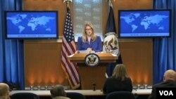 Phát ngôn viên Bộ Ngoại giao Maria Harf nói các nước hiểu được giá trị của việc thu thập thông tin tình báo và Mỹ sẵn sàng thảo luận những quan ngại với bất kỳ nước nào