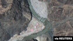 中印爭議地區拉達克的衛星圖像(資料圖片)