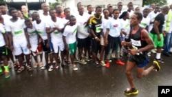 Sierra Leone's Idrissa Kargbo who finished second in the Liberia Marathon