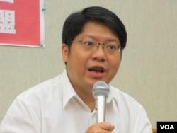 兩岸協議監督聯盟召集人賴中強(美國之音張永泰拍攝)