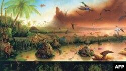"Rokmanova slika ""Evolucija"" iz 1992."