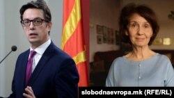 Stevo Pendarovski i Gordana Silijanovska Davkova (Foto: slobodnaevropa.mk)