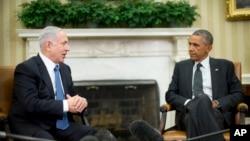 2014年10月,美國總統奧巴馬在白宮會見以色列總理內塔尼亞胡。