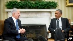 Arxiv surat. AQSH Prezidenti Barak Obama (o'ngda) va Isroil Bosh vaziri Benyamin Netanyaxu