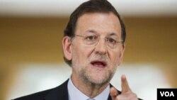 PM Mariano Rajoy di Istana Moncloa, Madrid (Foto: dok).
