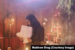 Praya Lundberg reading script in Strange Girl in a Strange Land