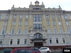 位于莫斯科市中心的罗斯石油公司总部大楼 (美国之音白桦)